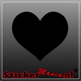 Hart krijtbord sticker