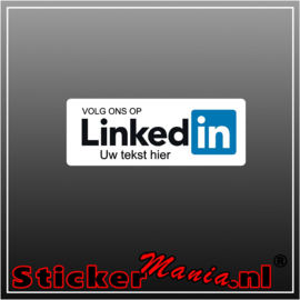 Volg ons op LinkedIn met eigen tekst