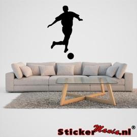 Muursticker voetbal 6