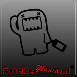 Domo drunk sticker
