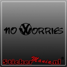 Volkswagen no worries sticker