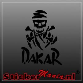 Dakar skull sticker