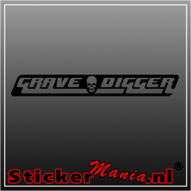 Grave digger sticker