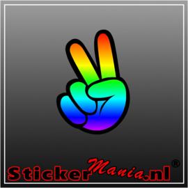 Peace Full Colour sticker