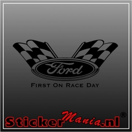 Ford first on race day sticker