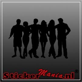groep mensen 1 sticker
