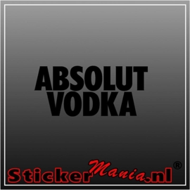 Absolut vodka sticker