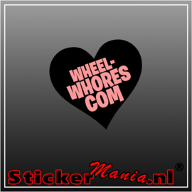 Wheel Whores Full Colour sticker