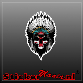 Indian skull full colour sticker