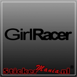 Girl racer sticker