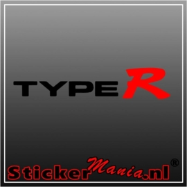 Honda type R sticker