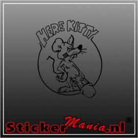 Here Kitty sticker