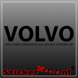 Volvo, verloren onderdelen liggen verder op sticker