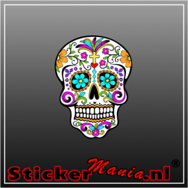 Skull 5 Full Colour sticker