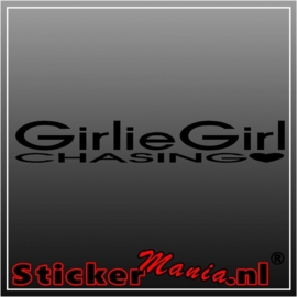 Girlie girl chasing sticker