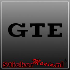 Volkswagen GTE sticker