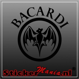Bacardi sticker