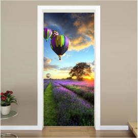 Luchtballonnen deur sticker