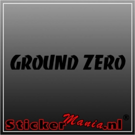 Ground zero sticker