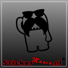 Domo Mustache 2 sticker