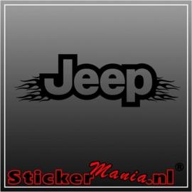 Jeep flames raamstreamer sticker