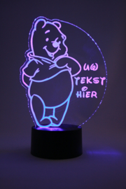 Winnie de poeh met eigen tekst led lamp