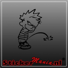 Calvin peeing sticker