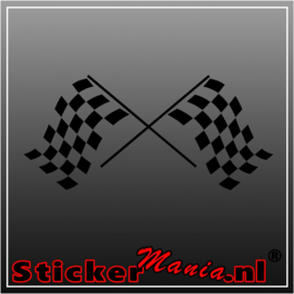 Dubbele vlag 5 sticker