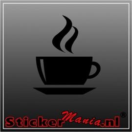 Koffie kopje sticker