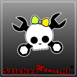 JDM Skull Full Colour sticker