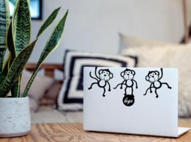 Aapjes laptop sticker