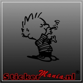 Calvin smoke sticker