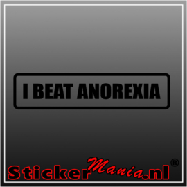 i beat anorexia sticker