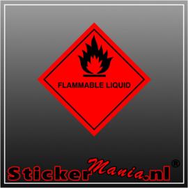 Flammable liquid full colour sticker