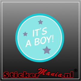 It's a boy geboorte sticker 2