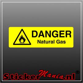 Danger natural gas full colour sticker