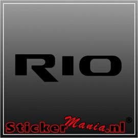 Kia rio sticker