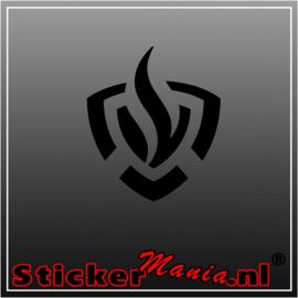 Brandweer logo sticker