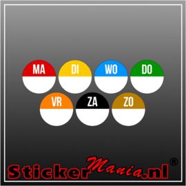 Houdbaarheid stickers zelf in te vullen -  set van 5 x7stickers