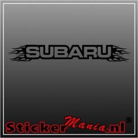 Subaru flames raamstreamer sticker