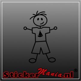 Sticky jongen 1 sticker
