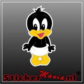 Baby Daffy Duck Full Colour sticker