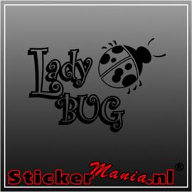 Lady bug sticker