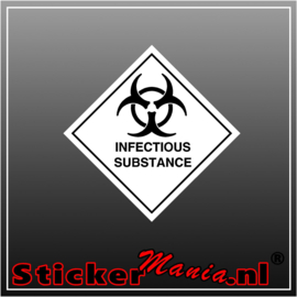 Infectious substance full colour sticker