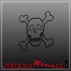 Skull 40 sticker