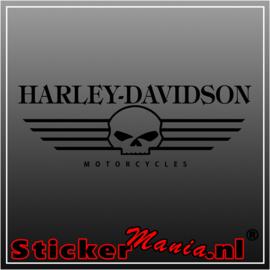 Harley davidson skull 1 sticker