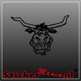 Longhorn bull sticker