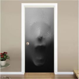 Gezicht deur sticker
