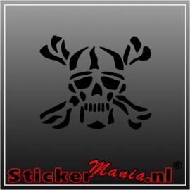 Skull 6 sticker
