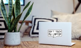 Don't touch my laptop sticker
